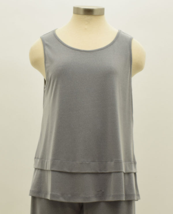 By JJ 206885 Bottom Double Layer Tank Grey