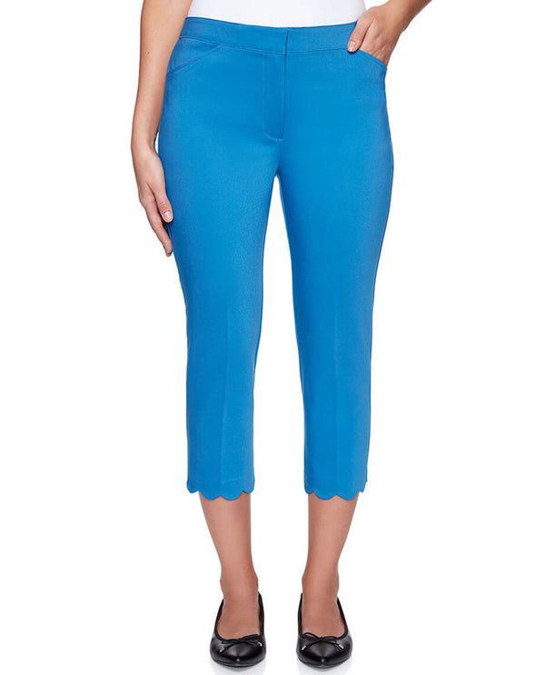 Ruby Rd 27300 Stretch Pants with Scallop Hem Capri