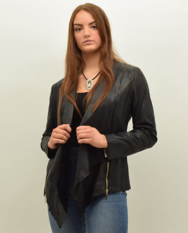 Insight NY BCJ10189 After Hours Faux Leather Jacket Black