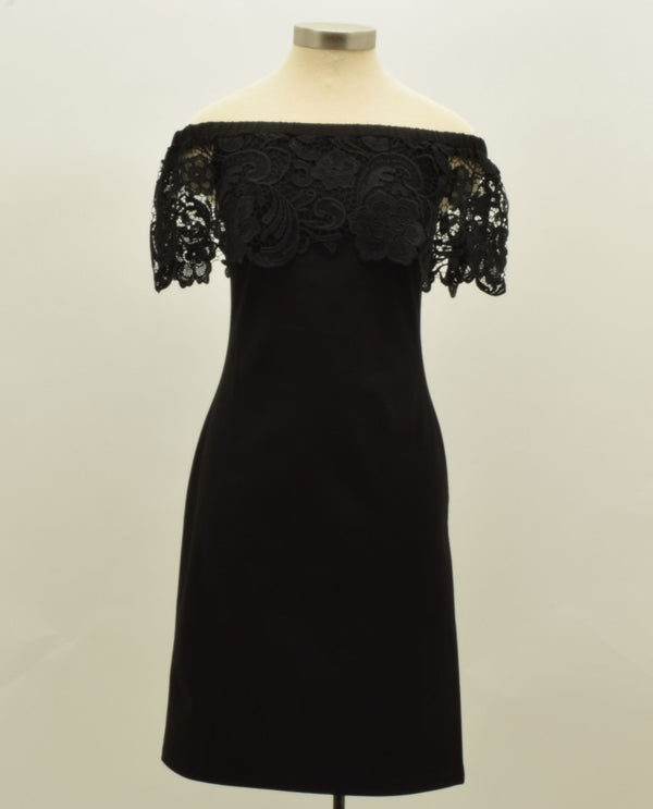 Black Pointe Dress with Lace