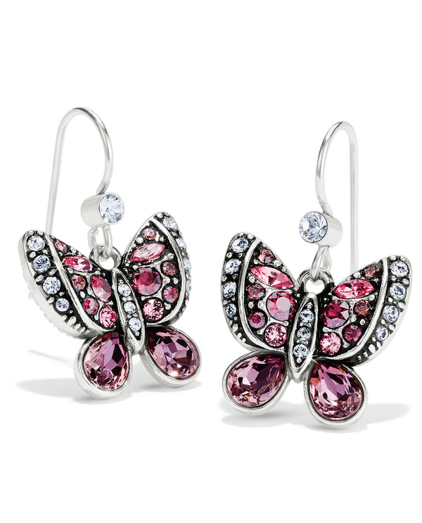 Brighton JA6793 Trust Your Journey Butterflies French Wire Earrings