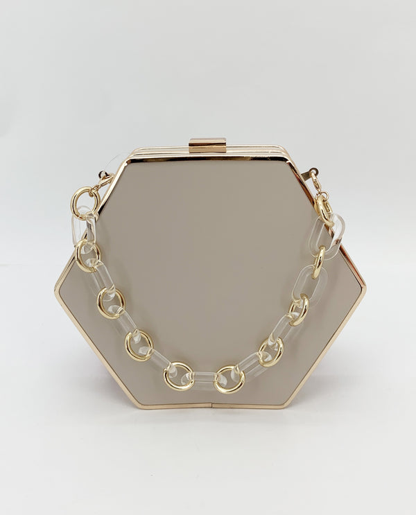Hexagon Bag-Beige