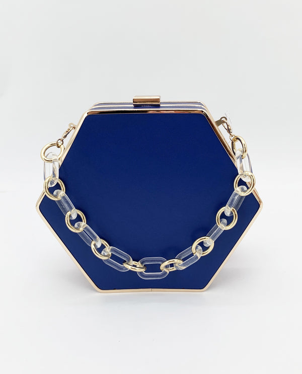 Hexagon Bag-Blue
