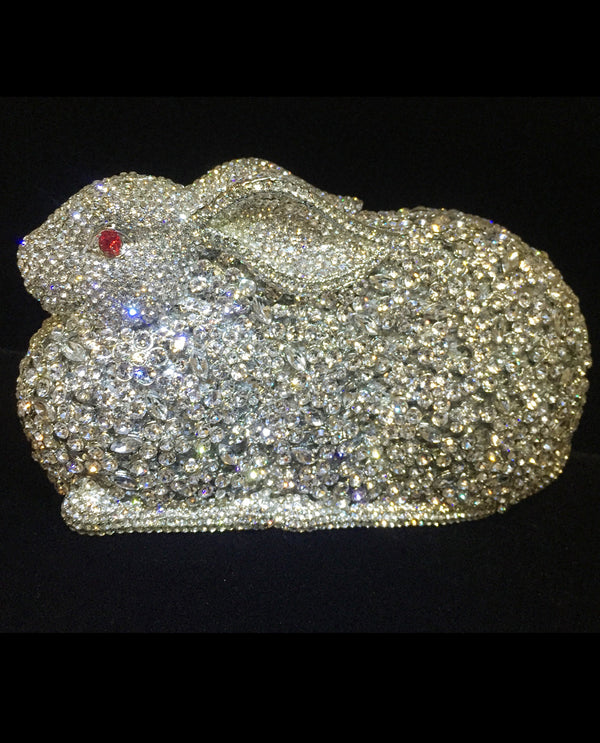 Rabbit Crystal Evening Bag