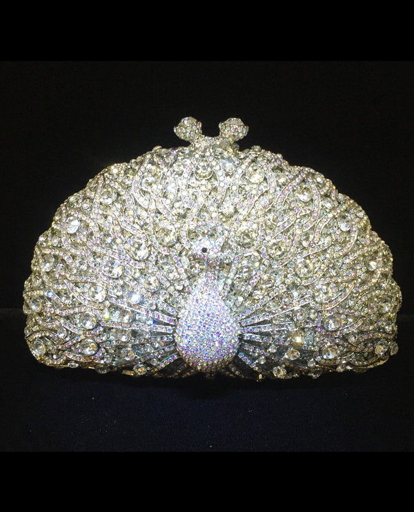 SLAB Crystal Peacock Evening Bag