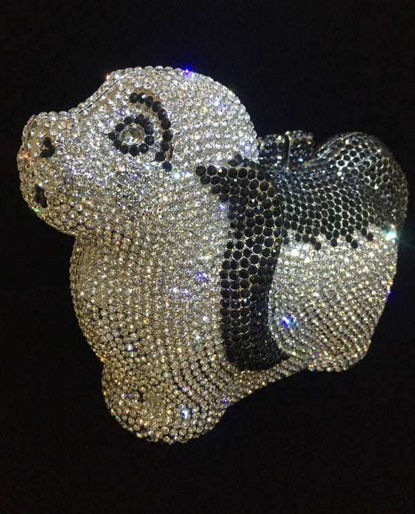 Crystal Dog Evening Bag