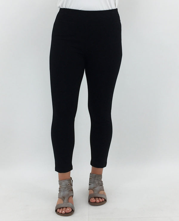 Ponte Crop Legging-Black