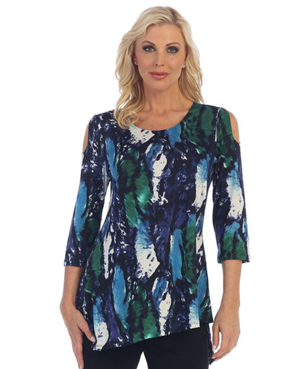 Caribe XC1473P275 Cold Shoulder Z Tunic
