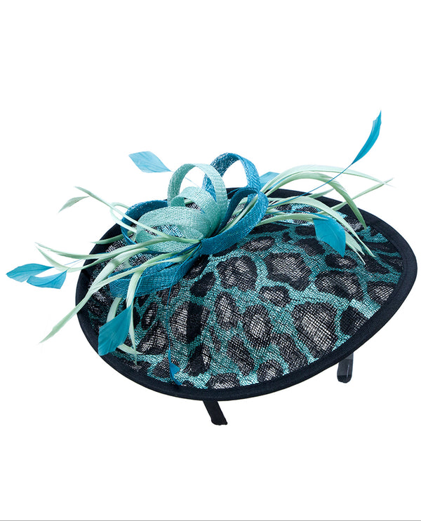Animal Print and Feather Fascinator