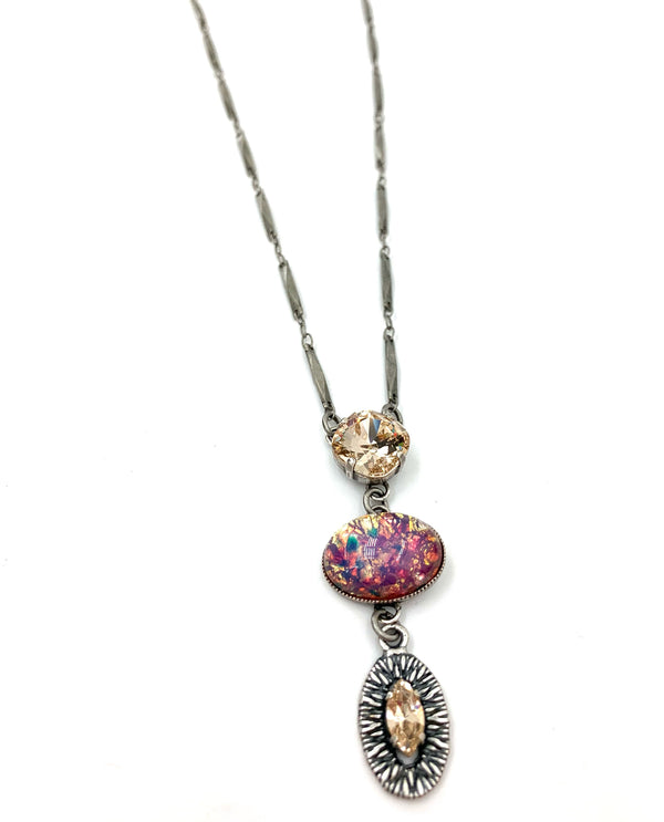 Rachel Marie Designs Ivana Czech Fire Opal Necklace