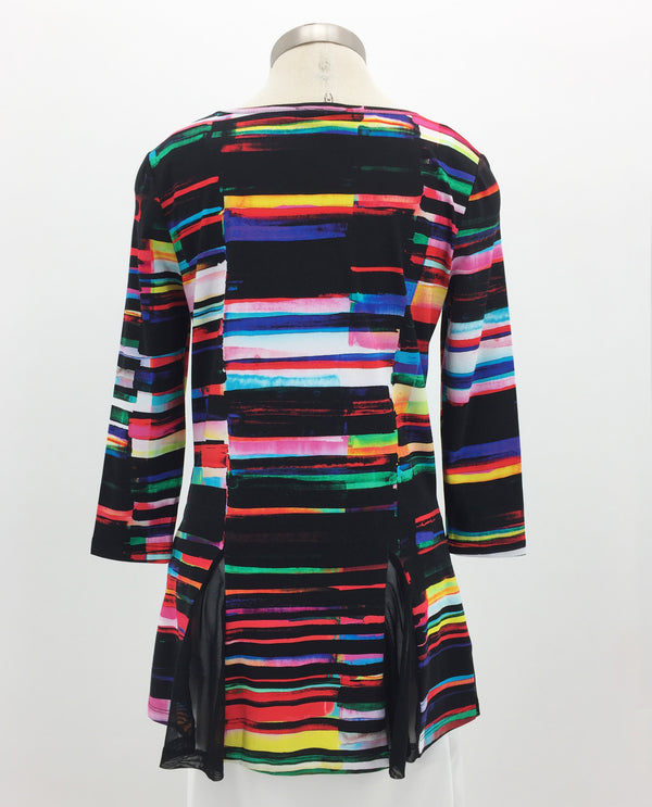 10831 Stripe Tunic with Godets