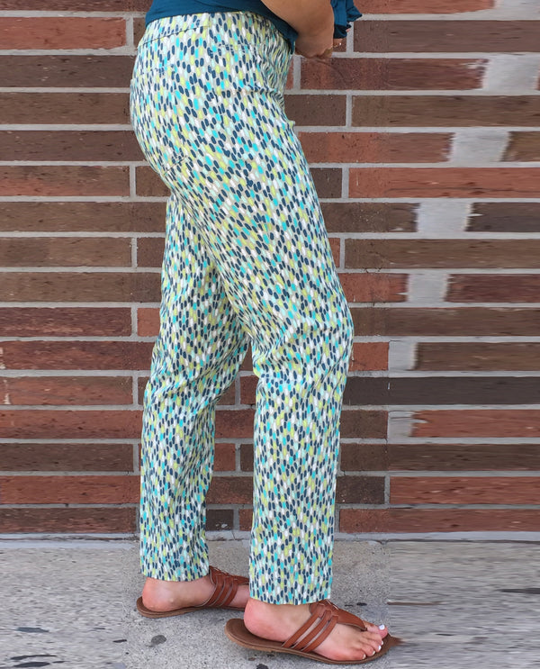 Multiples M30711PM-955 Print Ankle Pant