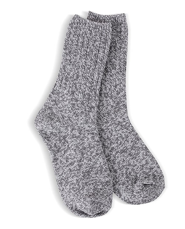 World's Softest Socks Charcoal Ragg Crew