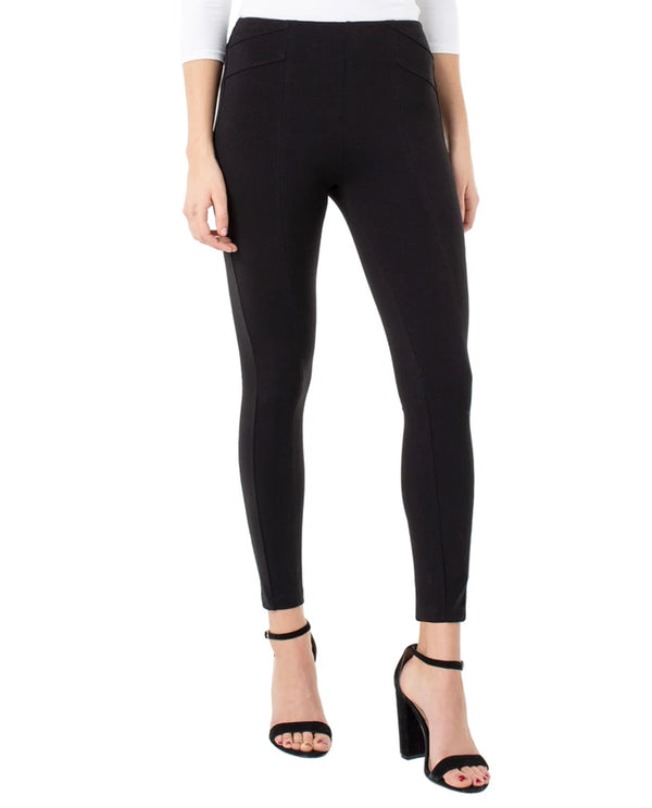 Liverpool LM2450M42 Reese Seamed Leggings Black