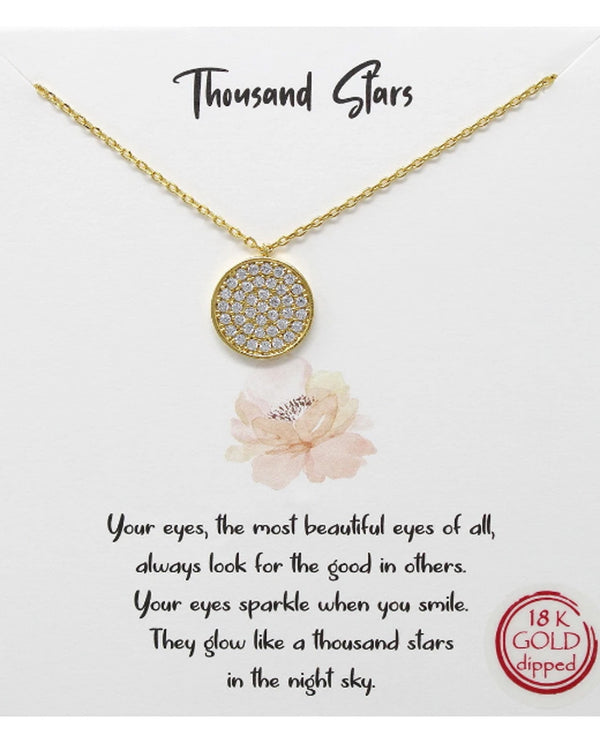 Thousand Stars Necklace BJNA009 GOLD