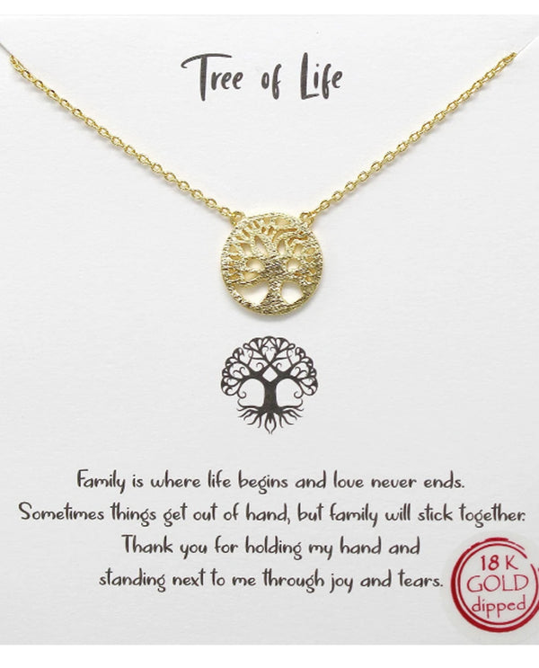 Tree Of Life Necklace BJNA002 GOLD