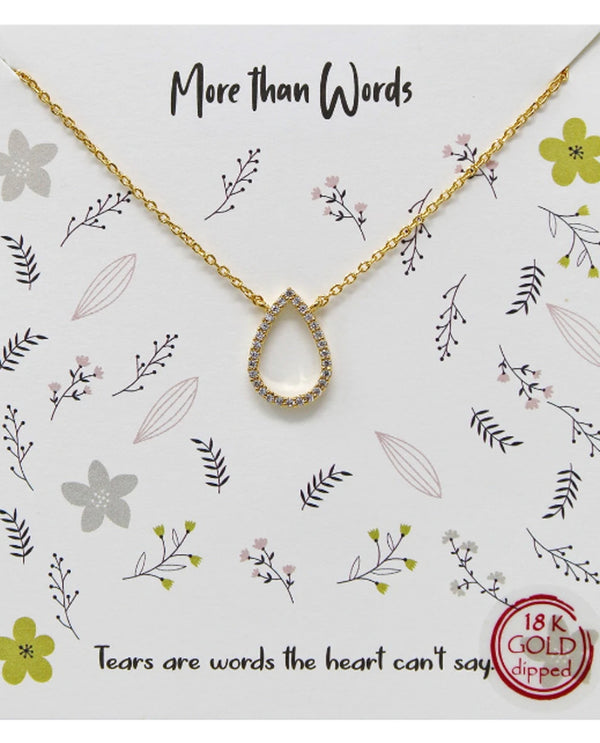 More Than Words Necklace BJNA240 GOLD