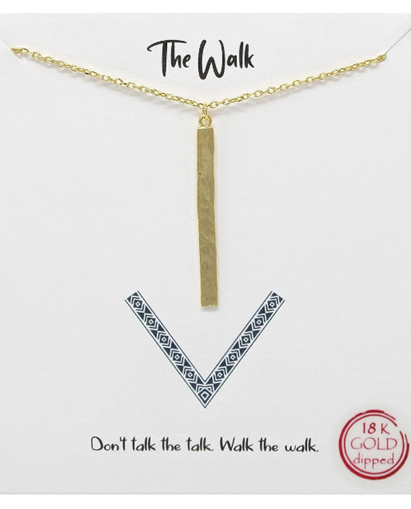 The Walk Necklace BJNA025 GOLD