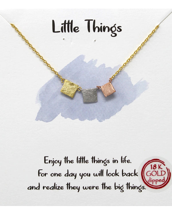 Little Things Necklace BJNA054 GOLD