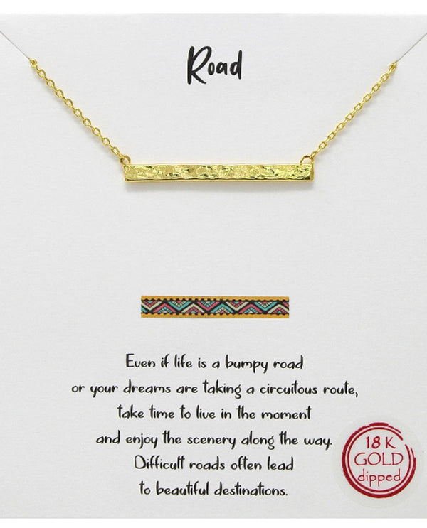 Road Necklace BJNA026 GOLD