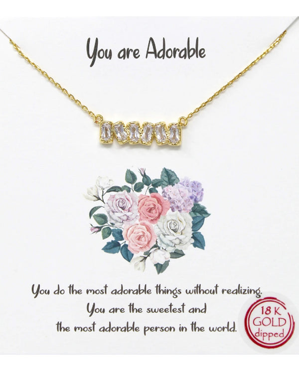 You Are Adorable Necklace BJNA283 GOLD