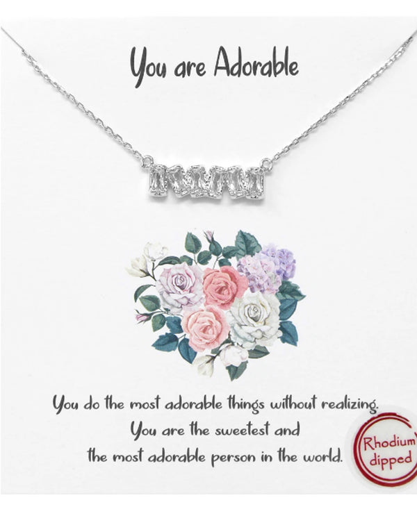 You Are Adorable Necklace BJNA283 RHDM