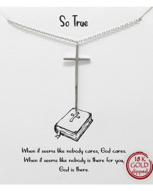 So True Cross Necklace BJNA141 RHDM