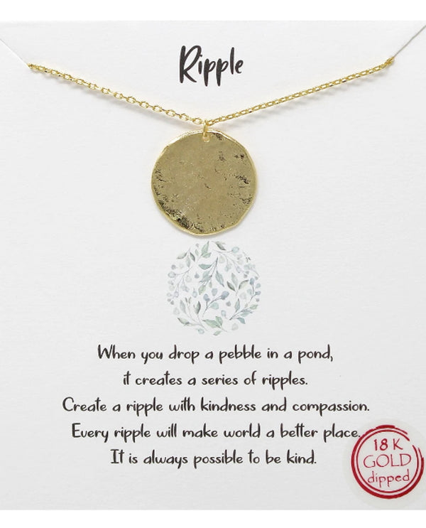 Ripple Necklace BJNA027 GOLD