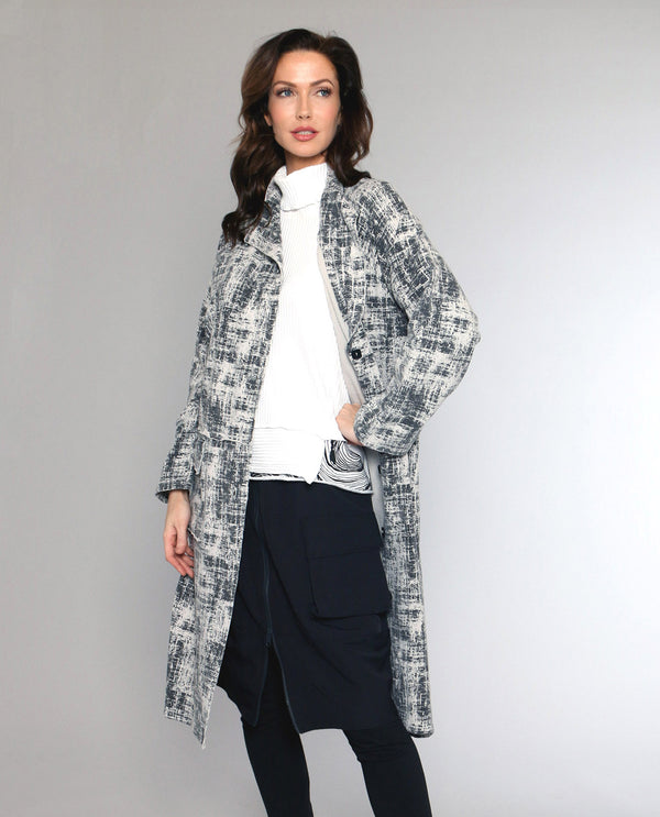 Fenini C44121 Print Duster With Pockets