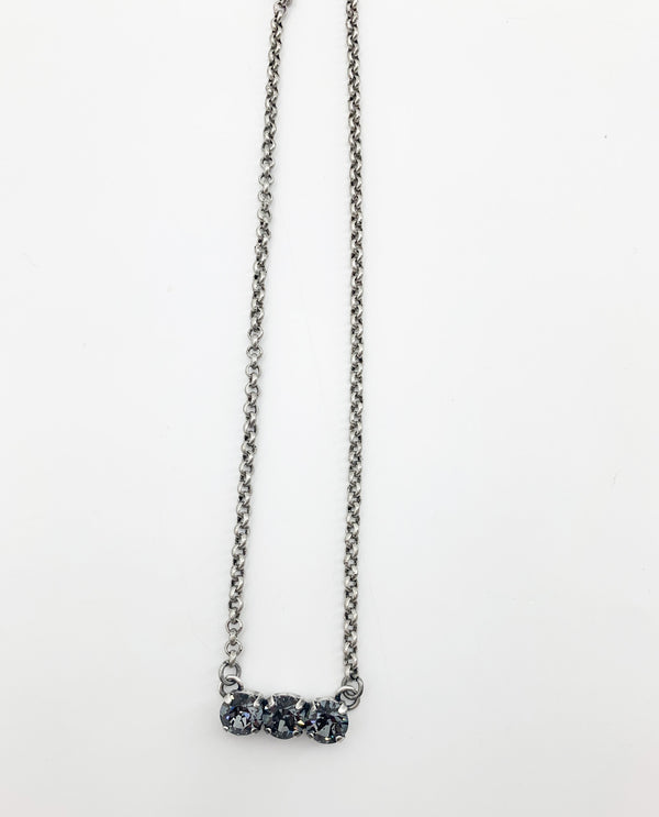 Rachel Marie Designs Vanessa Bar Necklace Silver Night