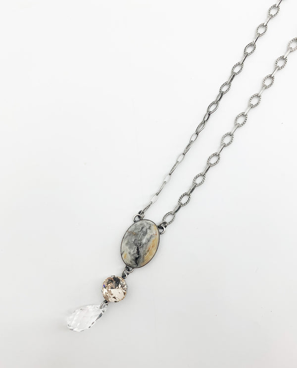 Rachel Marie Designs Crazy Lace Agate Necklace