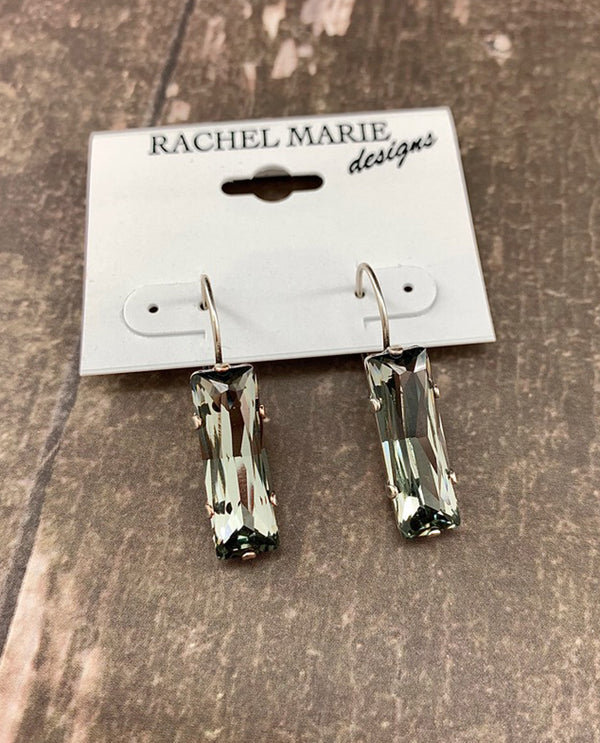 Rachel Marie Designs Bethany Baguette Earring Black Diamond