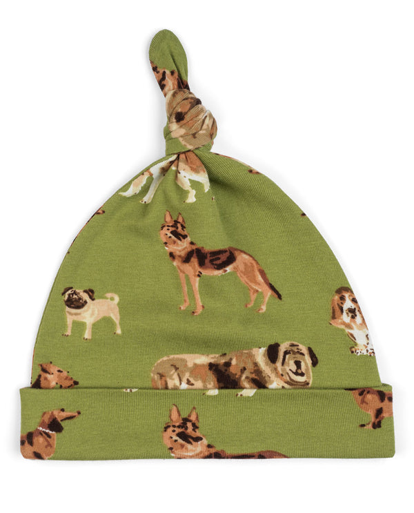 Milk Barn 43105 Green Dog Knotted Hat