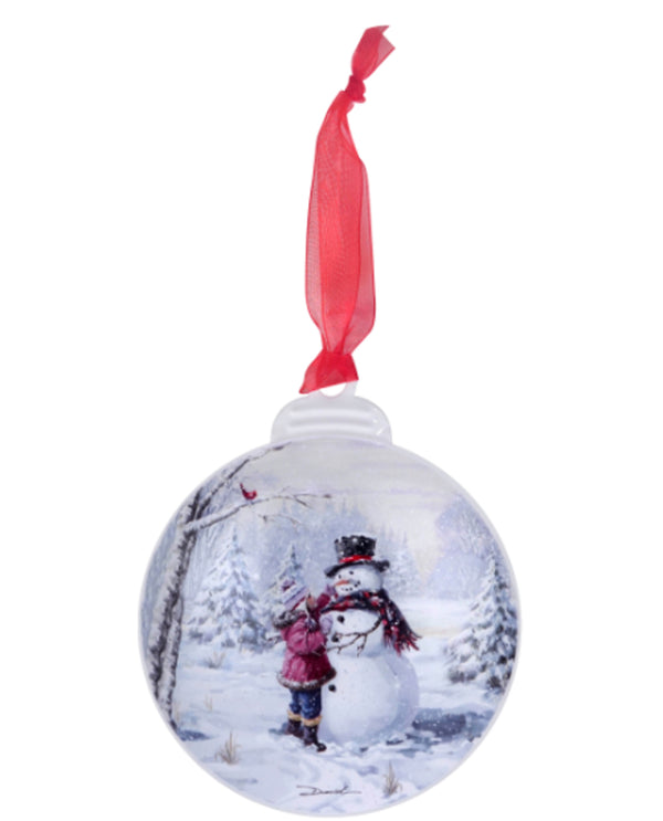Retro Tin Flat Ornament Kid