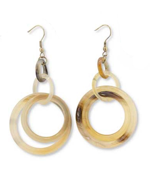 Double Circle Horn Earring