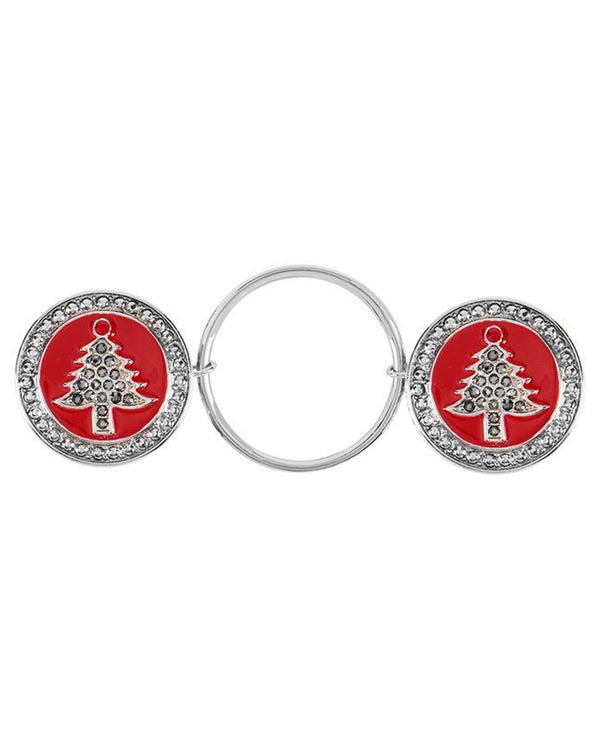 Coco + Carmen 2035337B Fashion Fastener Red Tree