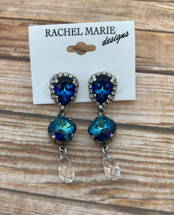 Rachel Marie Designs Halo Drop Earring BLACK MULTI
