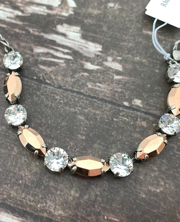 Rachel Marie Designs Rose Gold/Clear Bracelet