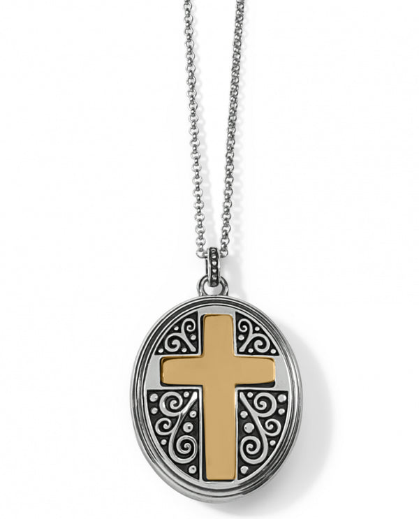 Brighton JM3532 Crossroads Convertible Locket Necklace