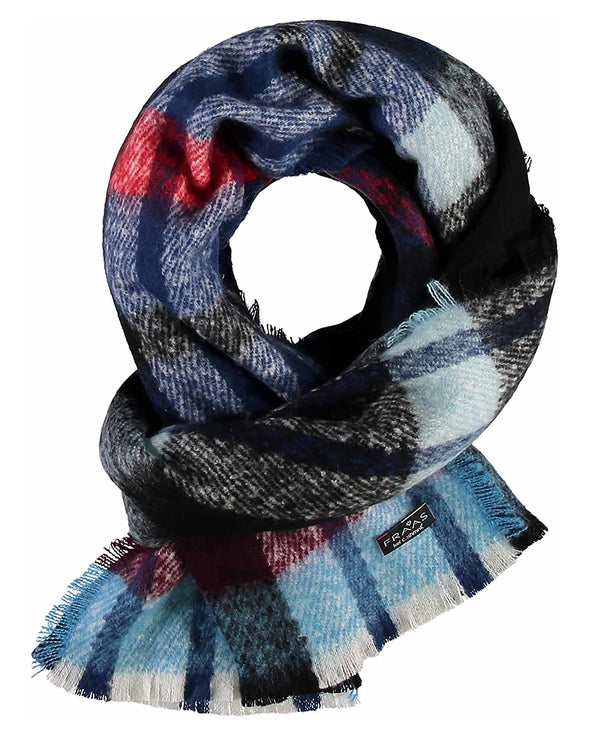 Fraas 631197 Autumn Check Scarf DKNV