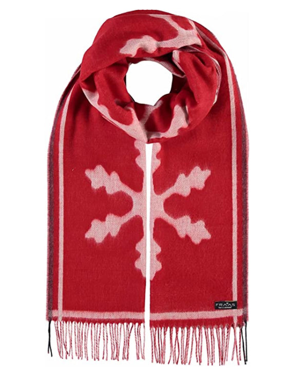 Fraas 625377 Let It Snow Scarf Red