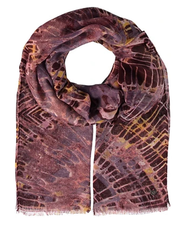 Fraas 625439 Spin Art Scarf Rosewood