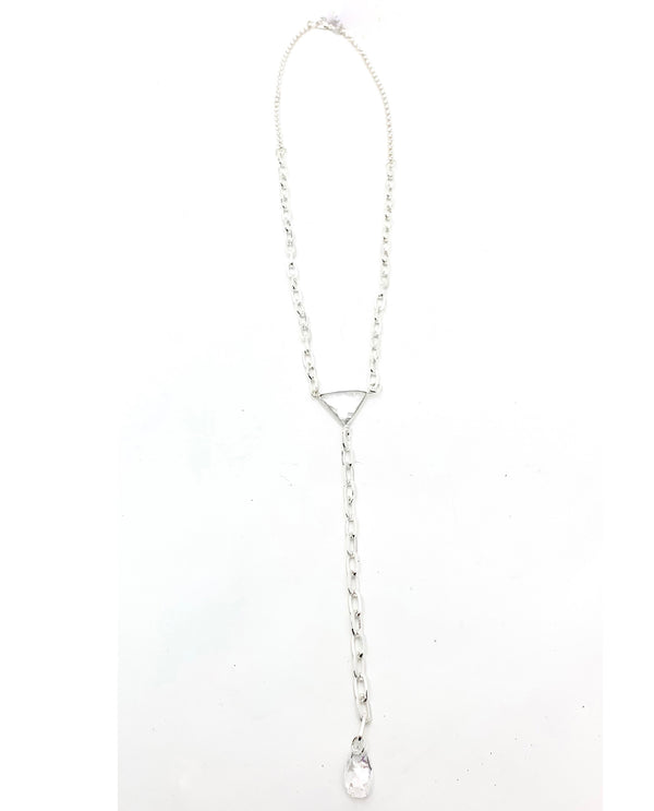 Rachel Marie Designs Shiny Silver Y Necklace