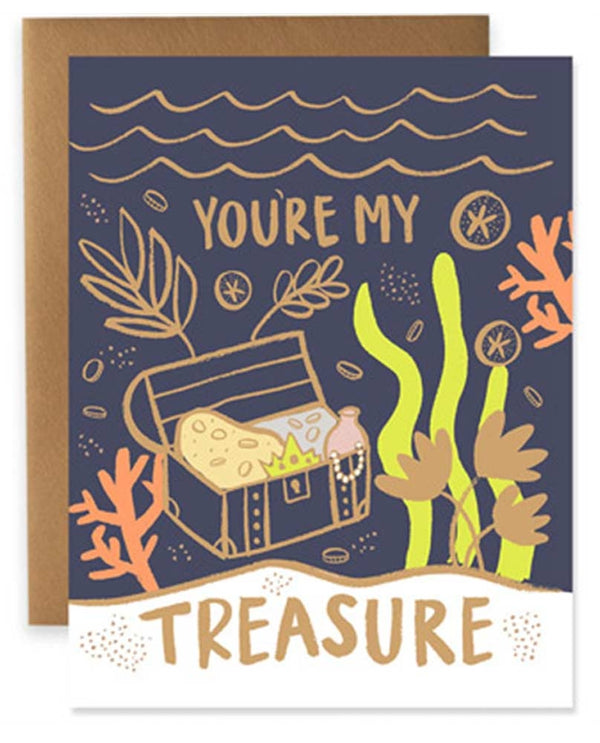 9th Letter Press GC615 You're My Treasure Card