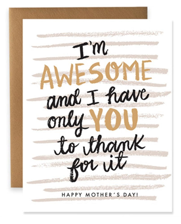 9th Letter Press HD612 Awesome Kid Card