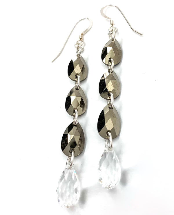 Rachel Marie Designs Metallic Gold Drop Earring