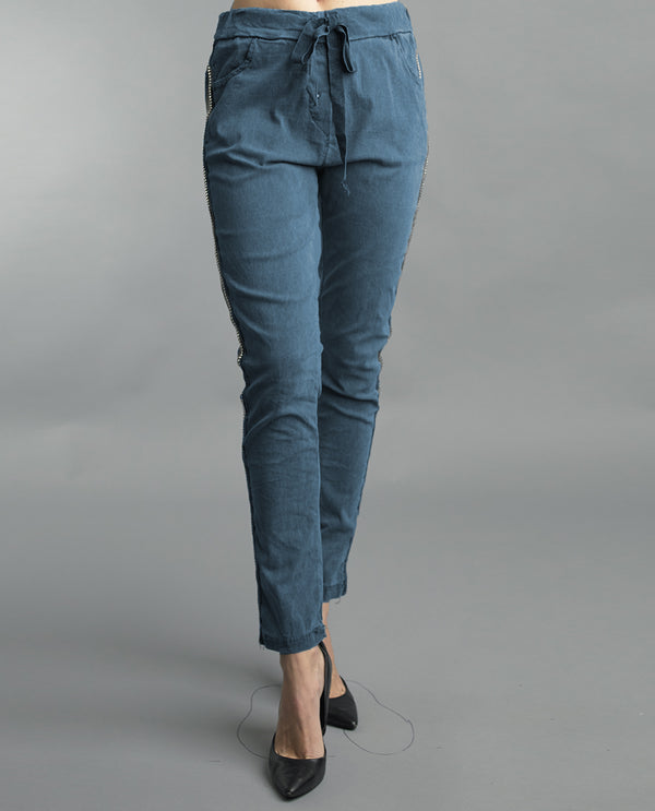 Side Studded Pant Denim