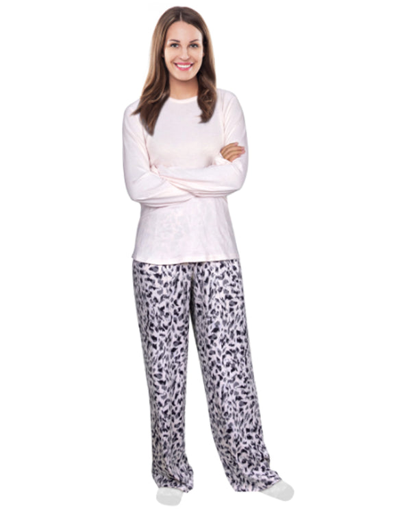 Lana 2 Pc Solid Pajamas blush