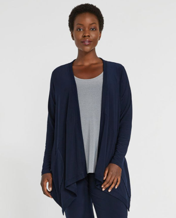 Sympli 25135 Motion Trim Cardigan Navy