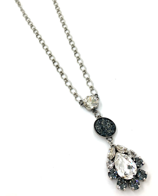 Rachel Marie Designs Smoke Long Teardrop Necklace